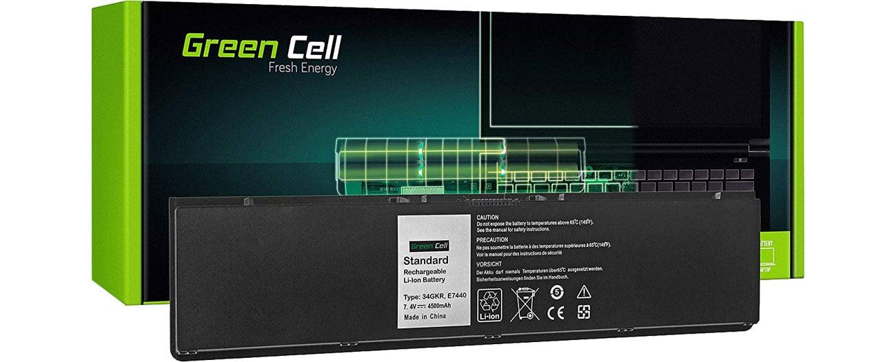 Green Cell Bateria do Dell Latitude (4500 mAh, 7.4V, 7.2V) DE93