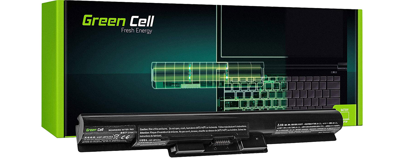 Green Cell Bateria do Sony Vaio (2200 mAh, 14.8V, 14.4V) SY18