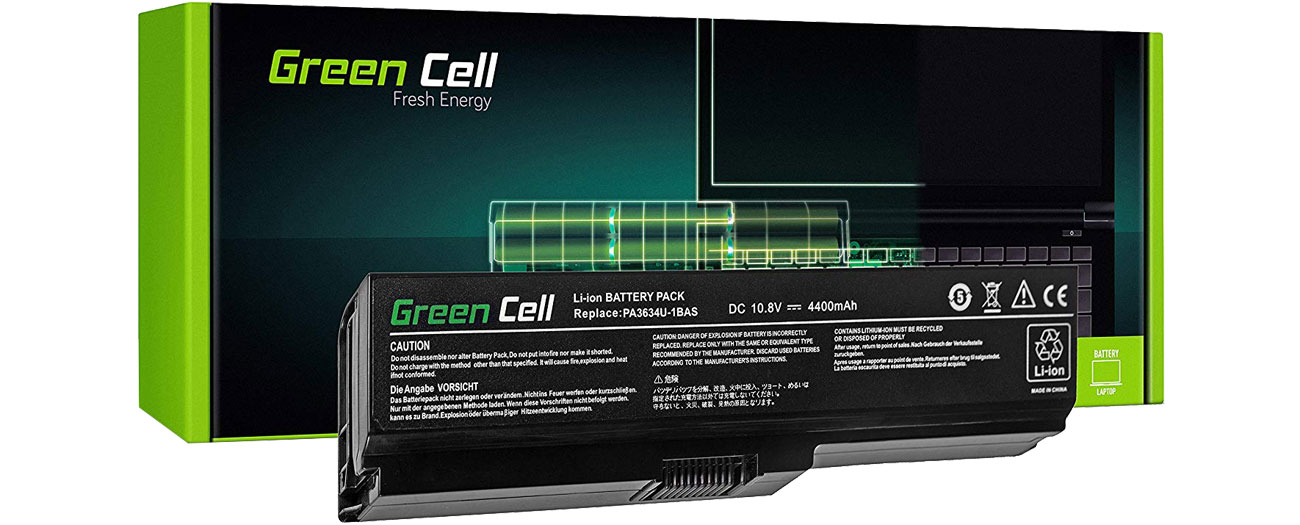 Green Cell Bateria do Toshiba (4400 mAh, 10.8V, 11.1V) TS03V2
