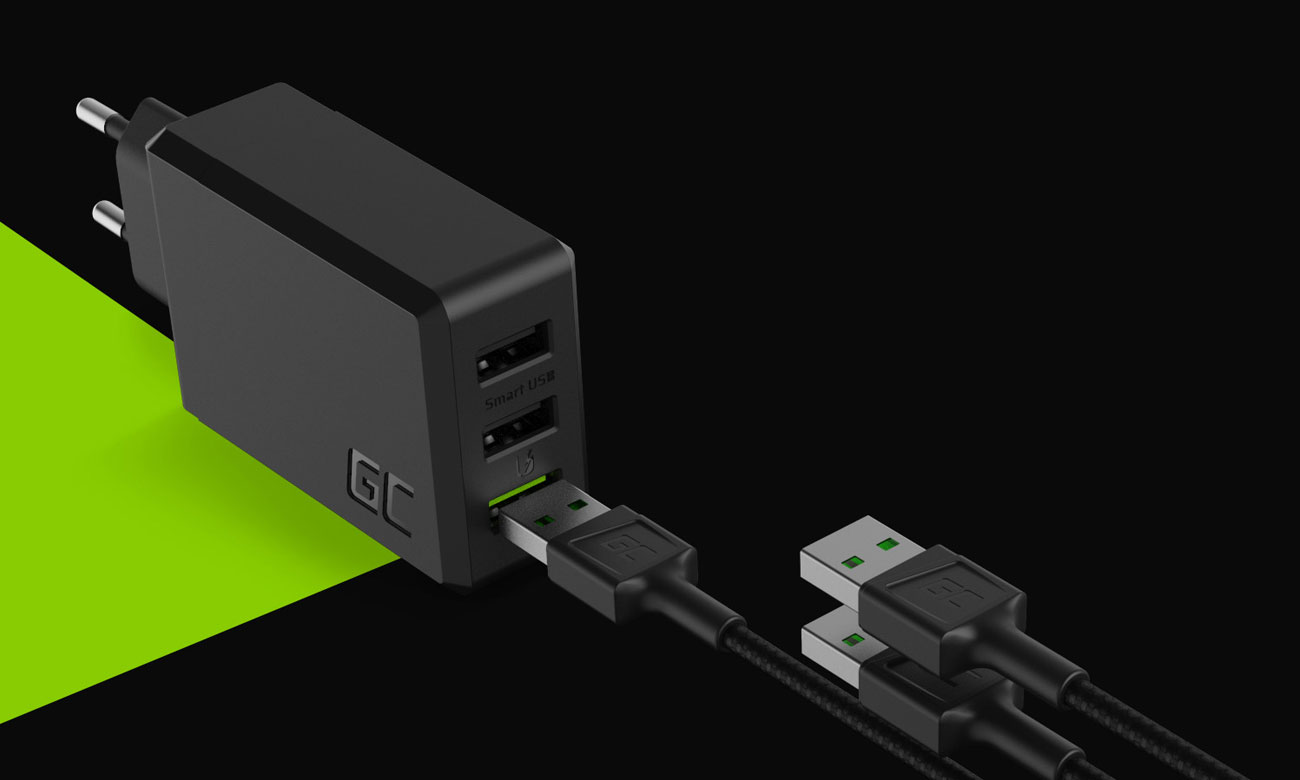 Green Cell ChargeSource3 - Złącza USB