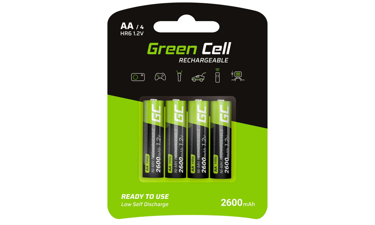 Akumulatory Green Cell 4x AA HR6 2600mAh GR01