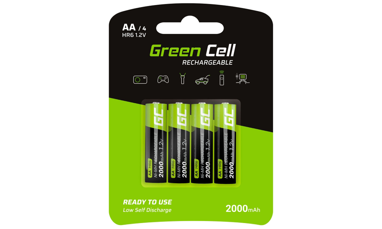 Akumulatory Green Cell 4x AA HR6 2000mAh GR02