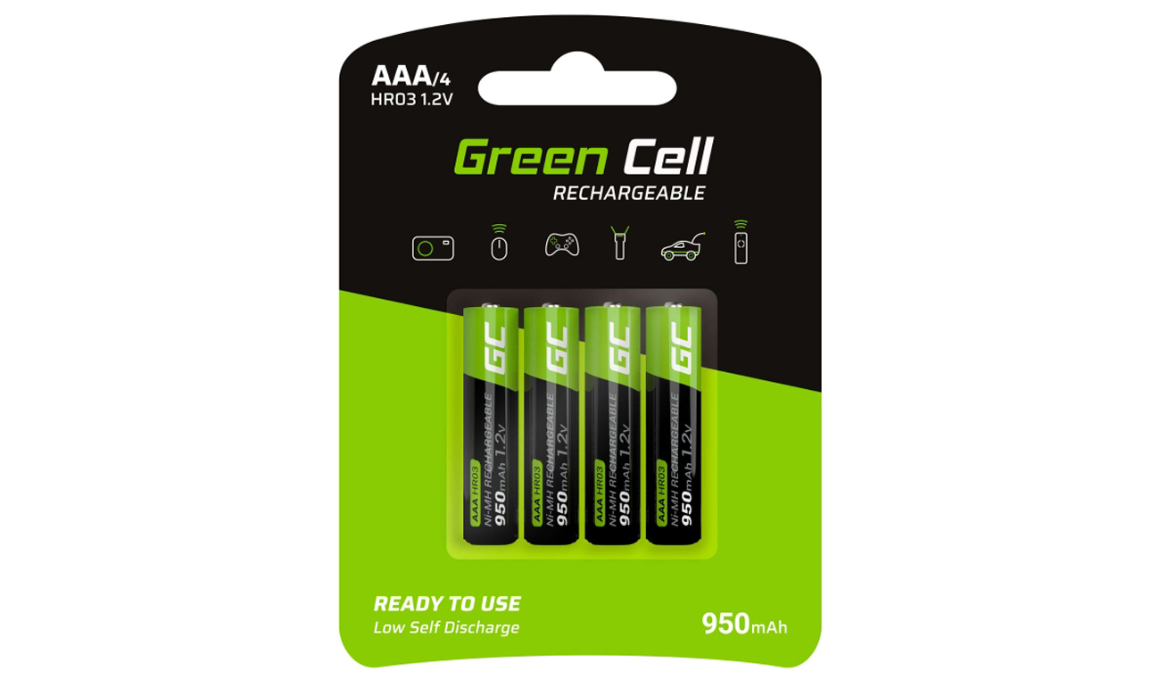 Akumulatory Green Cell 4x AAA HR03 950mAh GR03