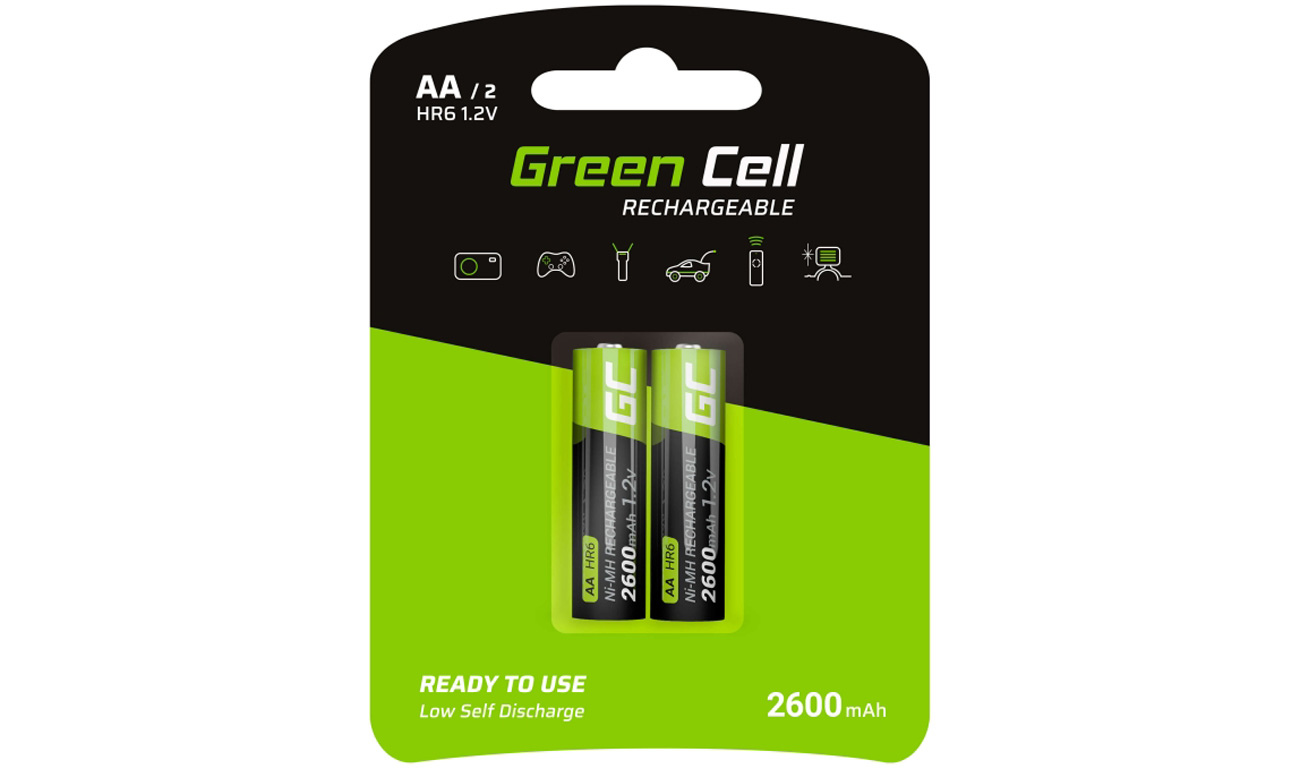 Akumulatory Green Cell 2x AA HR6 2600mAh GR05