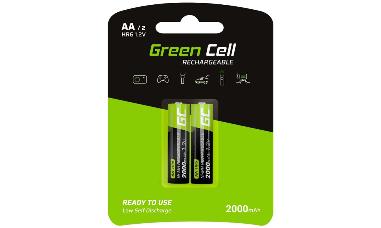Akumulatory Green Cell 2x AA HR6 2000mAh GR06