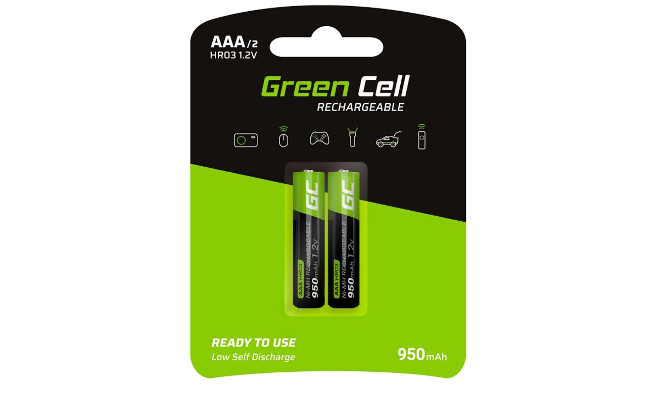 Akumulatory Green Cell 2x AAA HR03 950mAh