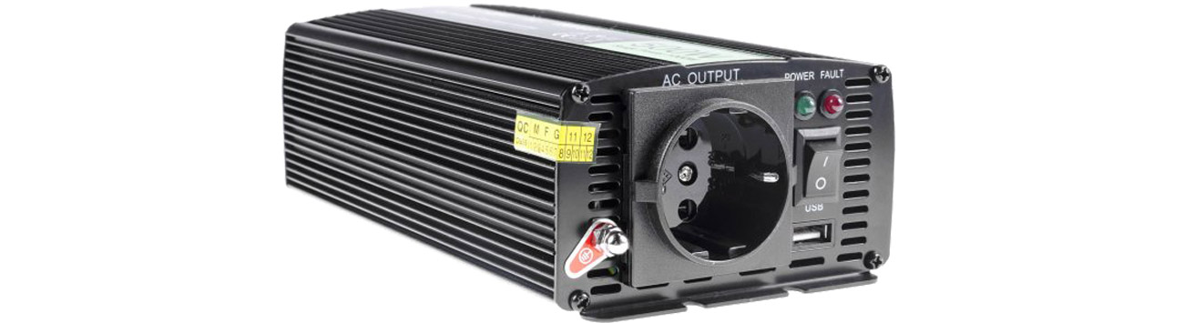 Green Cell Przetwornica napięcia 12V na 230V 500W/1000W INV03DE