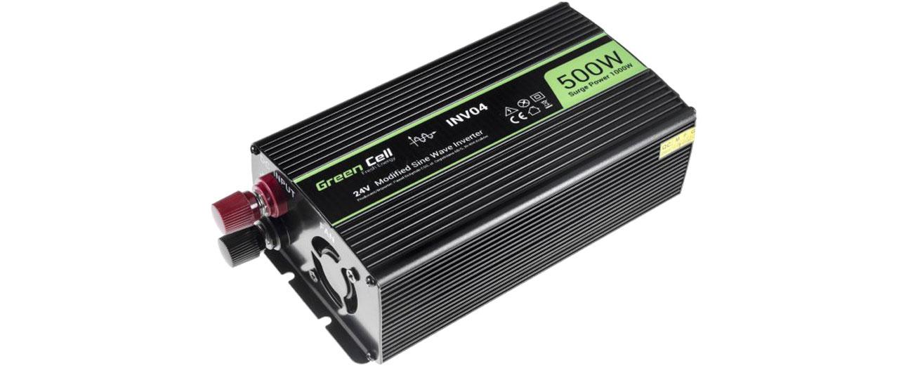 Green Cell Przetwornica napięcia 24V na 230V 500W/1000W INV04