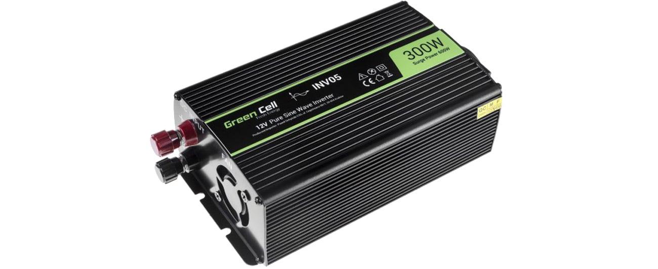 Green Cell Przetwornica napięcia 12V na 230V 300W/600W INV05DE