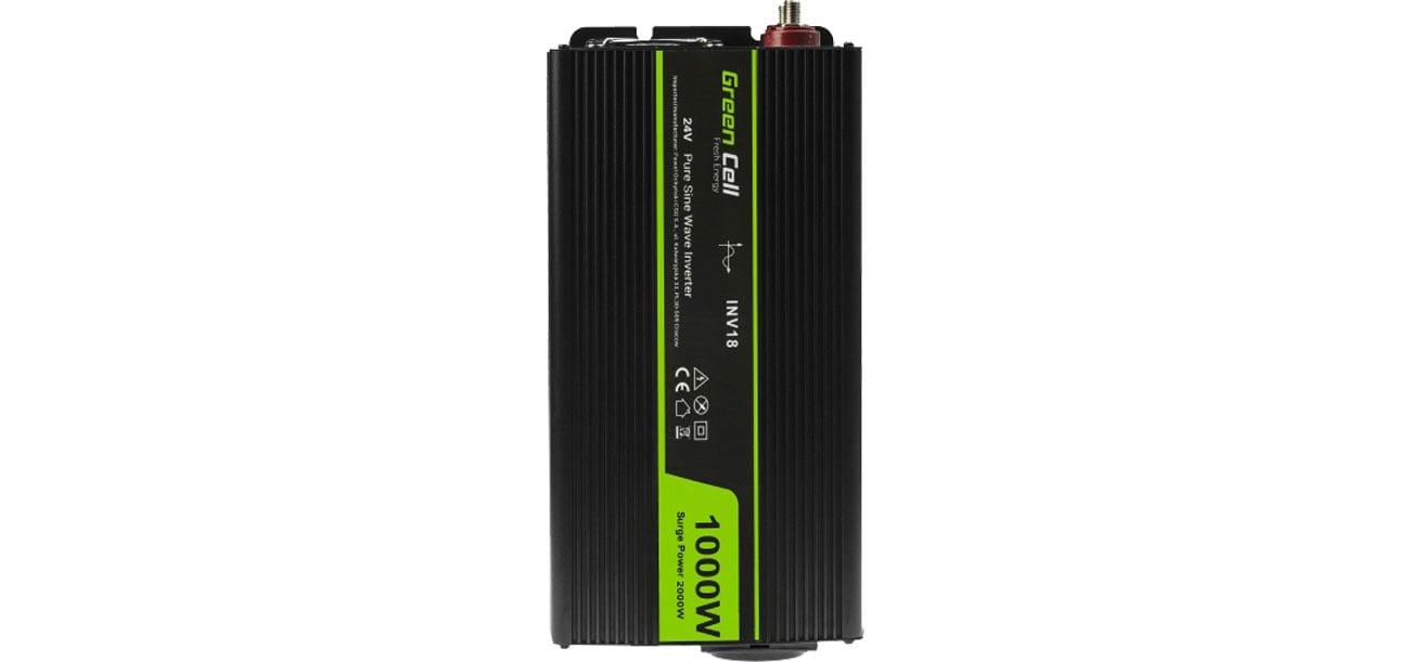 Green Cell Przetwornica napięcia 24V na 230V 1000W/2000W INV18