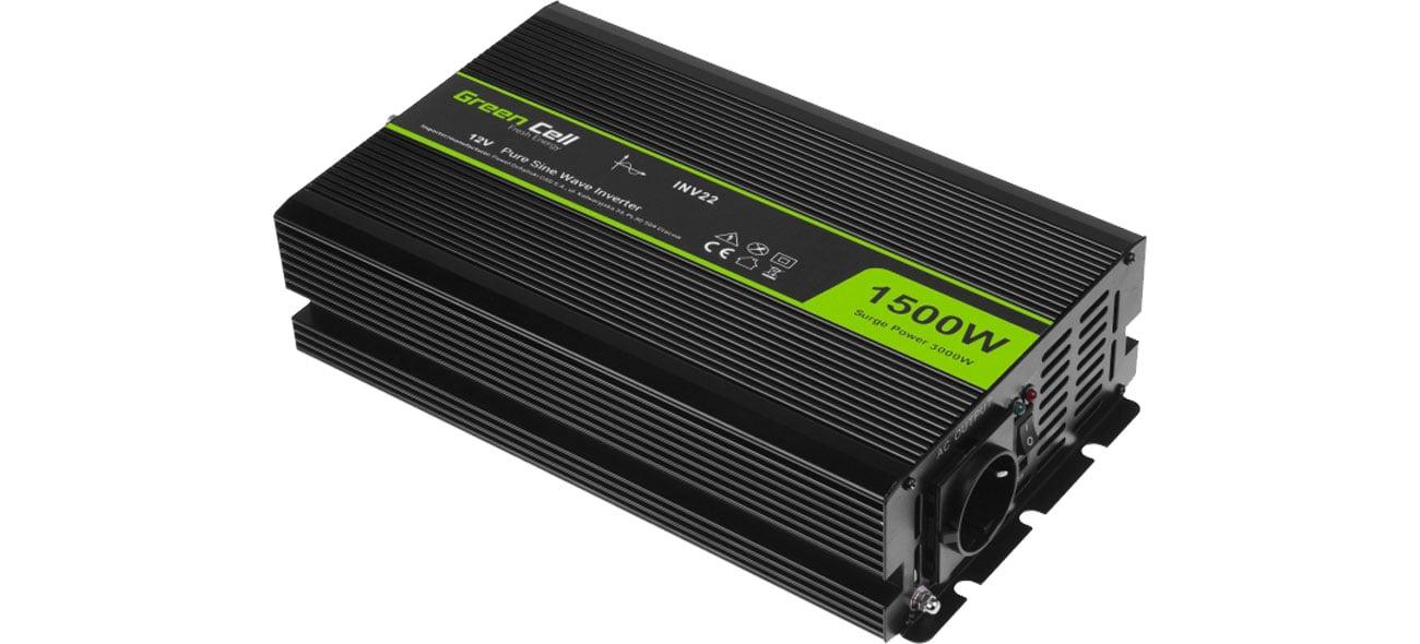 Green Cell Przetwornica napięcia 12V na 230V 1500W/3000W INV22
