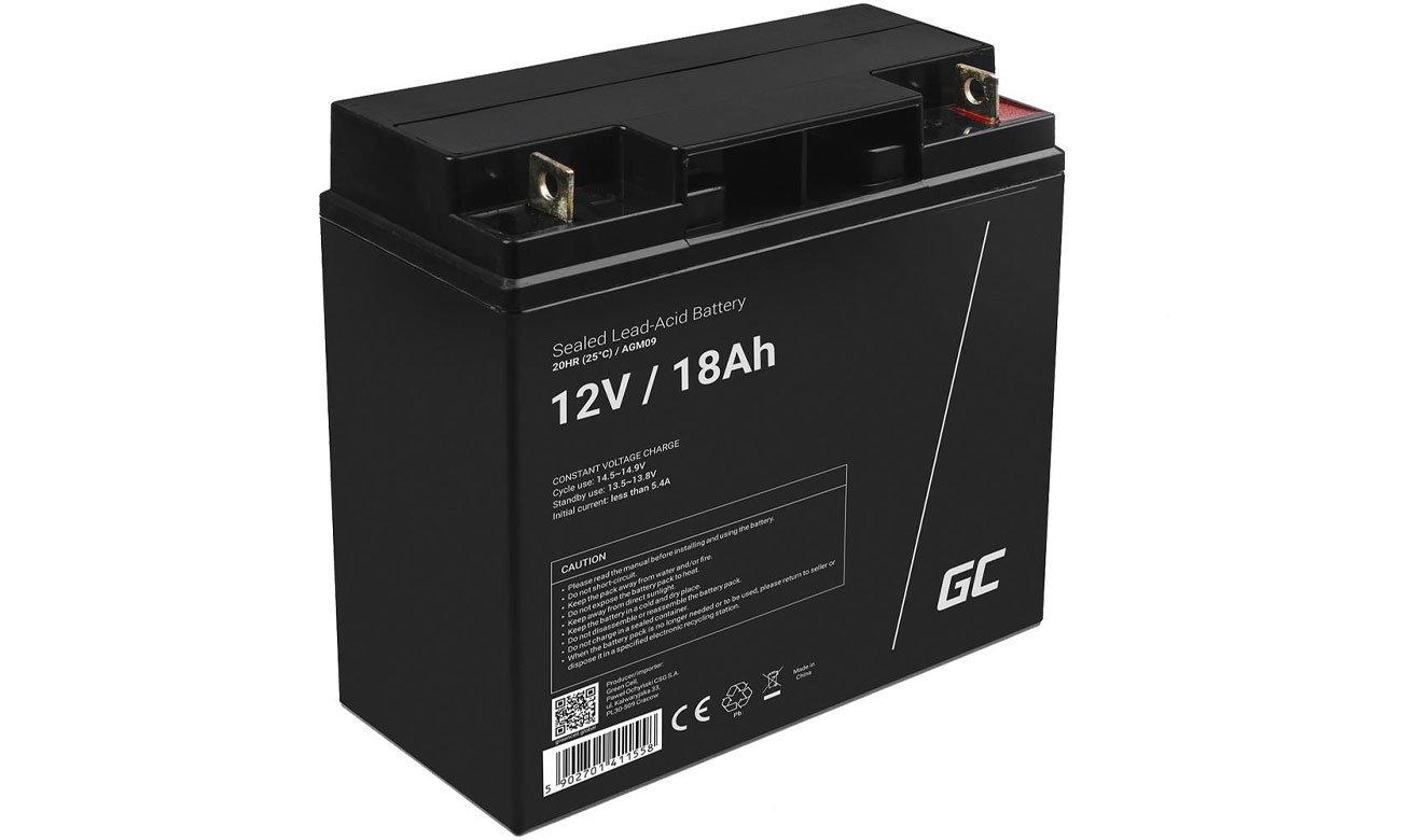 Green Cell Akumulator AGM 12V 18Ah AGM09