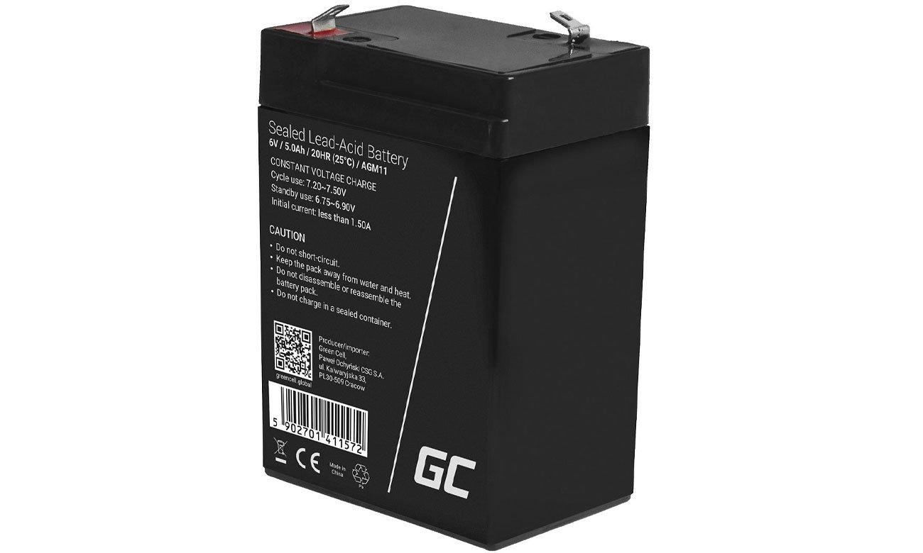Green Cell Akumulator AGM 6V 5Ah AGM11