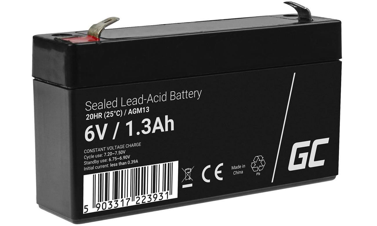 Akumulator AGM VRLA 6V 1.3Ah AGM13