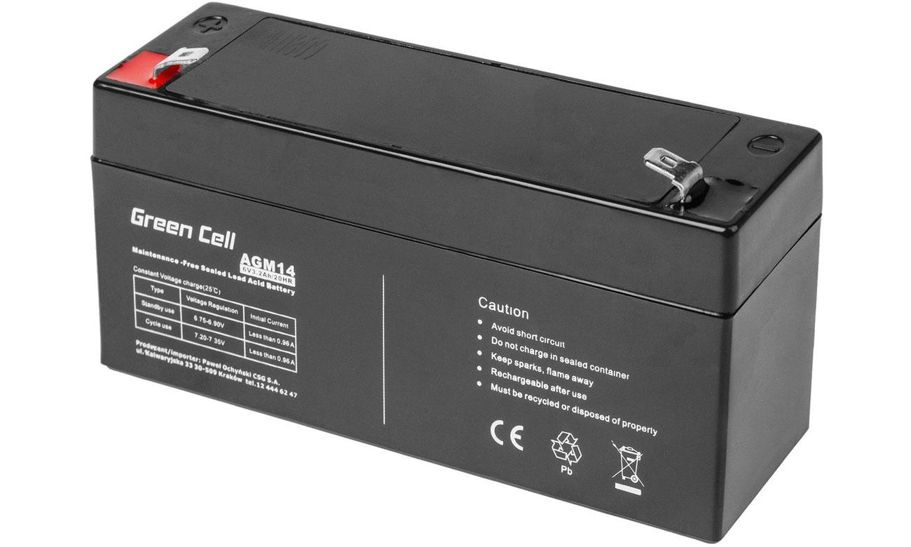 Akumulator AGM VRLA 6V 3.3Ah AGM14