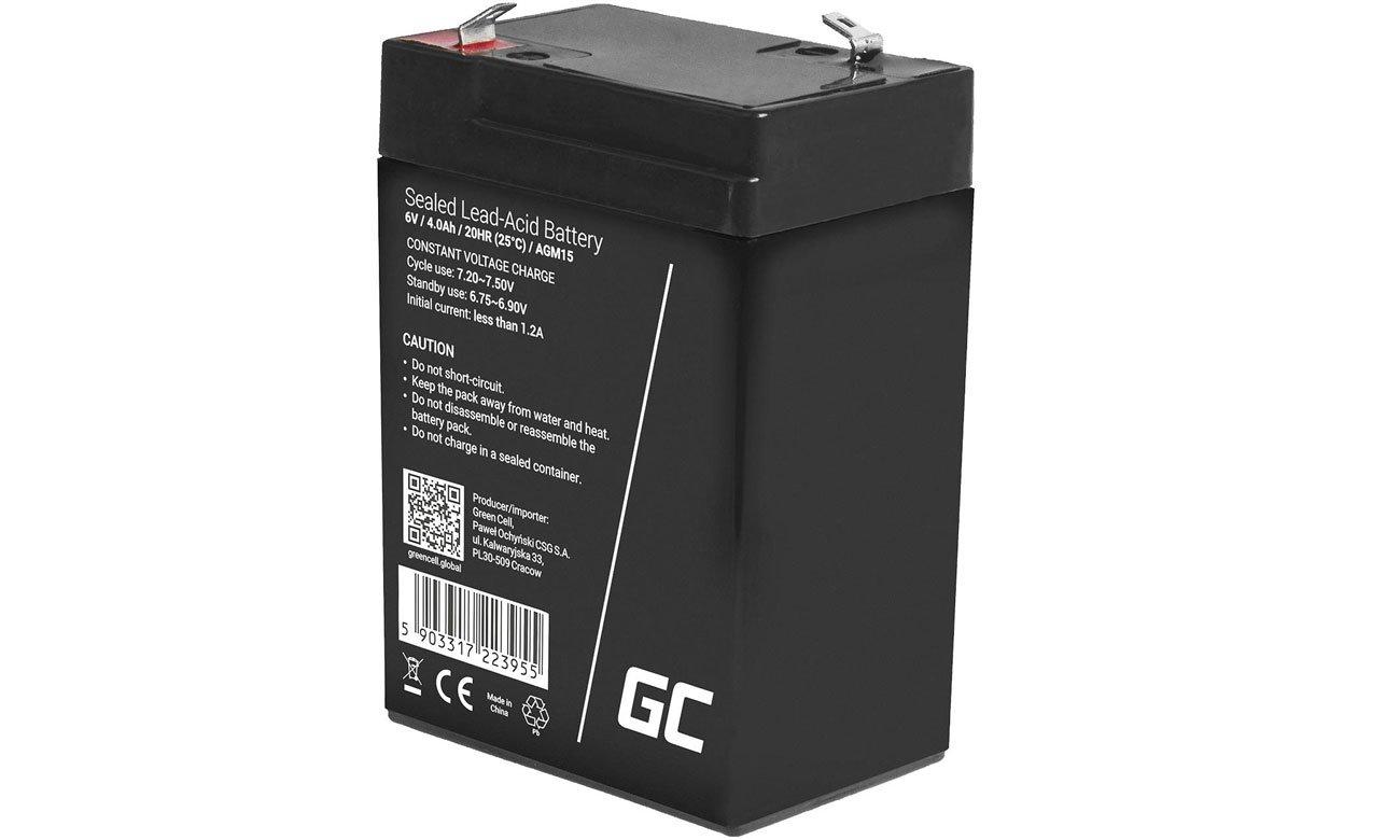 Akumulator AGM VRLA 6V 4Ah AGM15