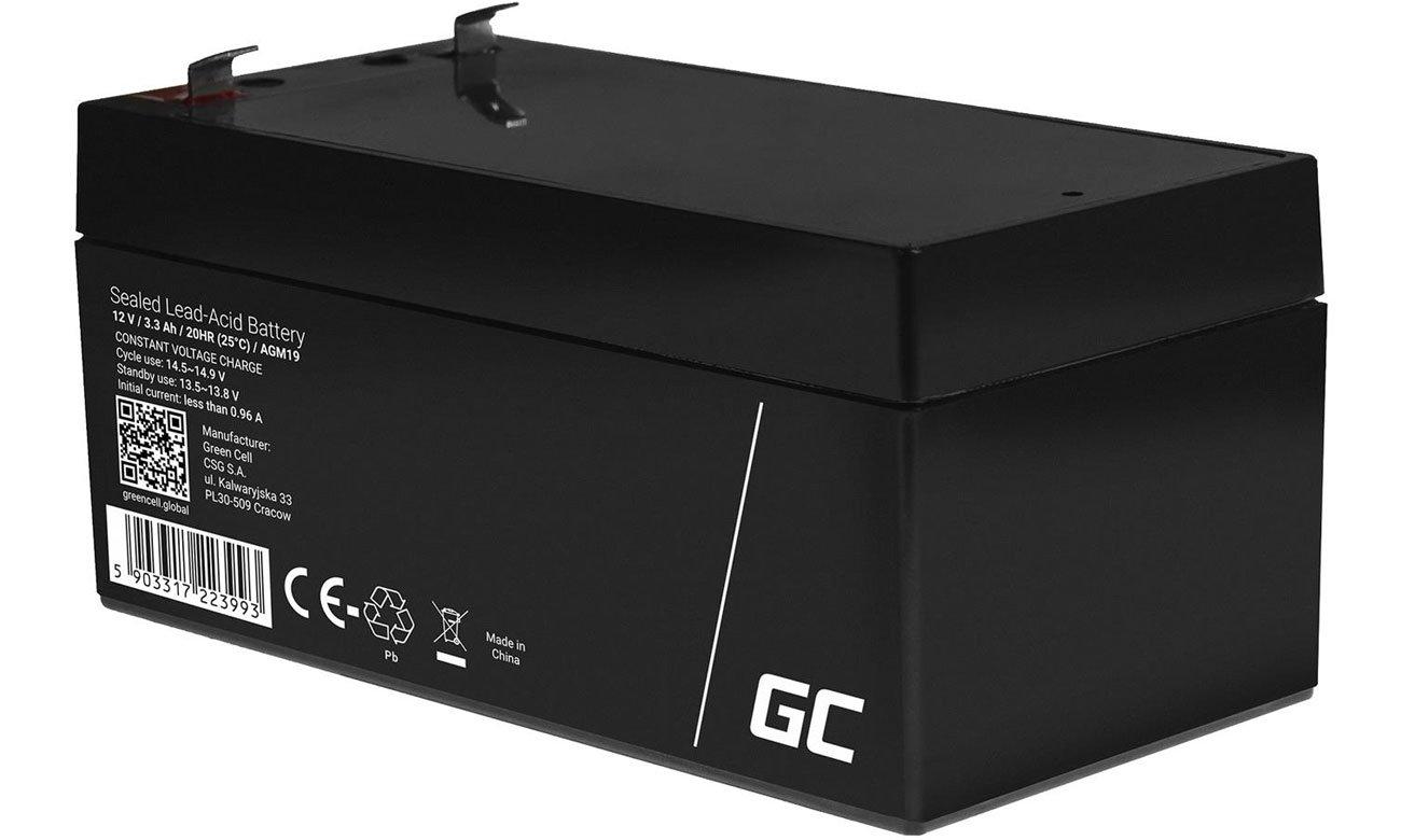 Akumulator AGM VRLA 12V 3.3Ah AGM19