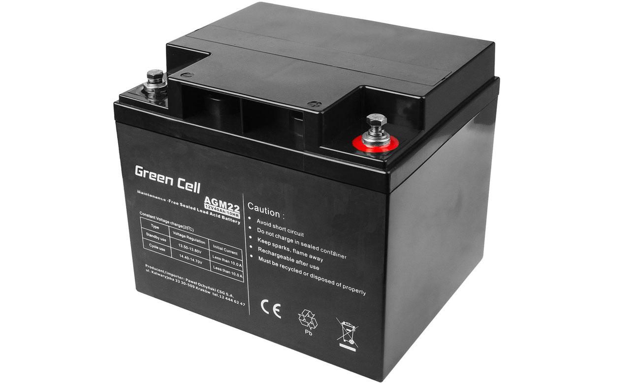 Akumulator AGM VRLA 12V 40Ah AGM22