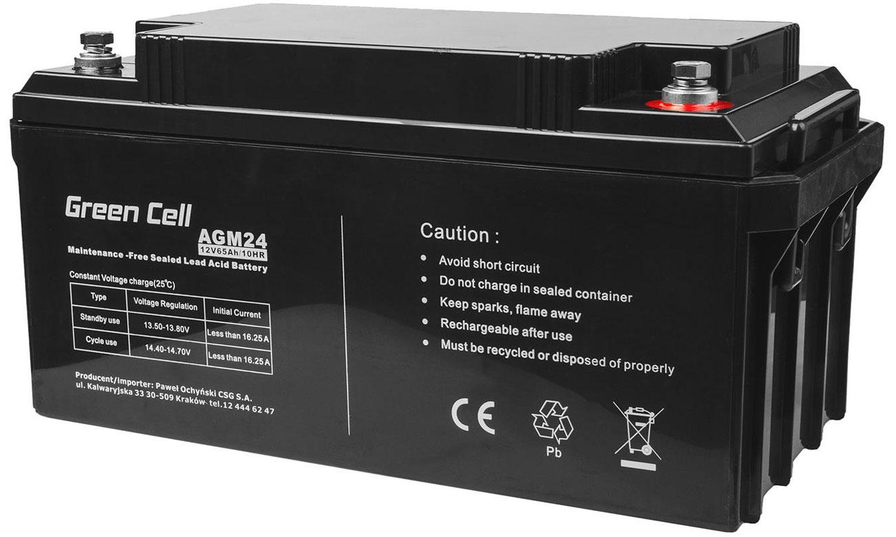 Akumulator AGM VRLA 12V 65Ah AGM24