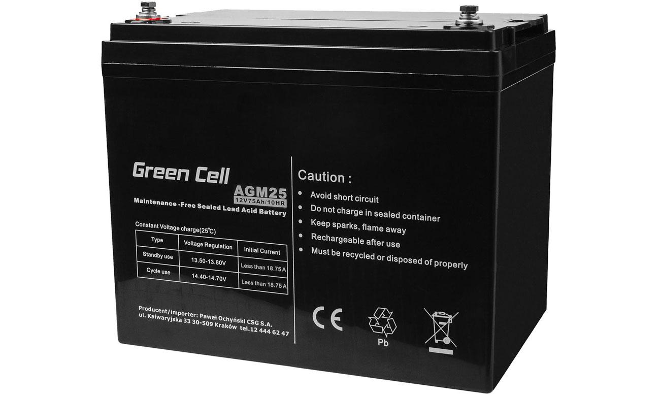 Akumulator AGM VRLA 12V 75Ah AGM25