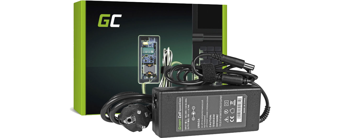 Zasilacz do HP 90W (4.74A, 7.4-5.0mm) Green Cell AD15