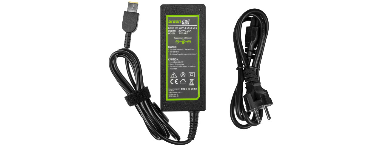 Green Cell Zasilacz do Lenovo 65W (3.25A, Slim Tip) AD38A