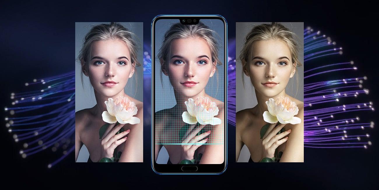 Honor 10 autoportret 3D bokeh