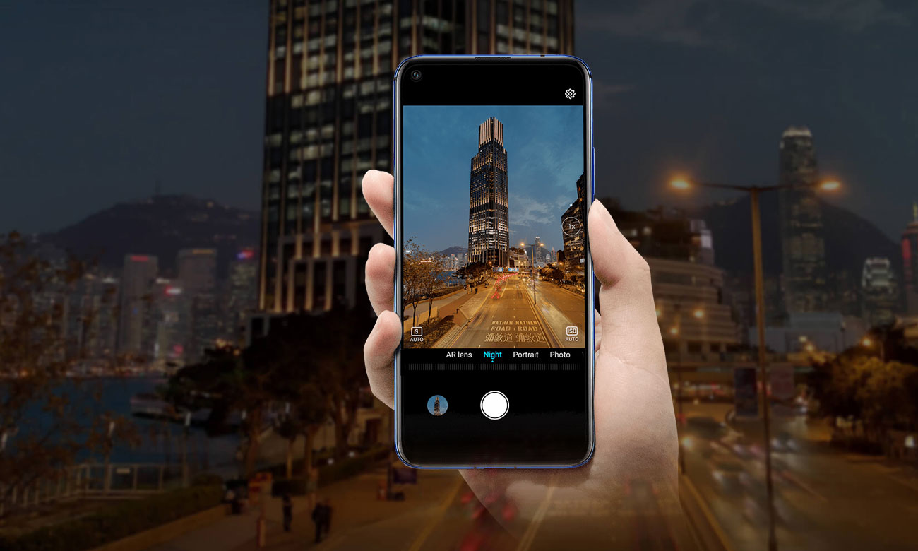 Honor 20 poczwórny aparat z AI macro bokeh