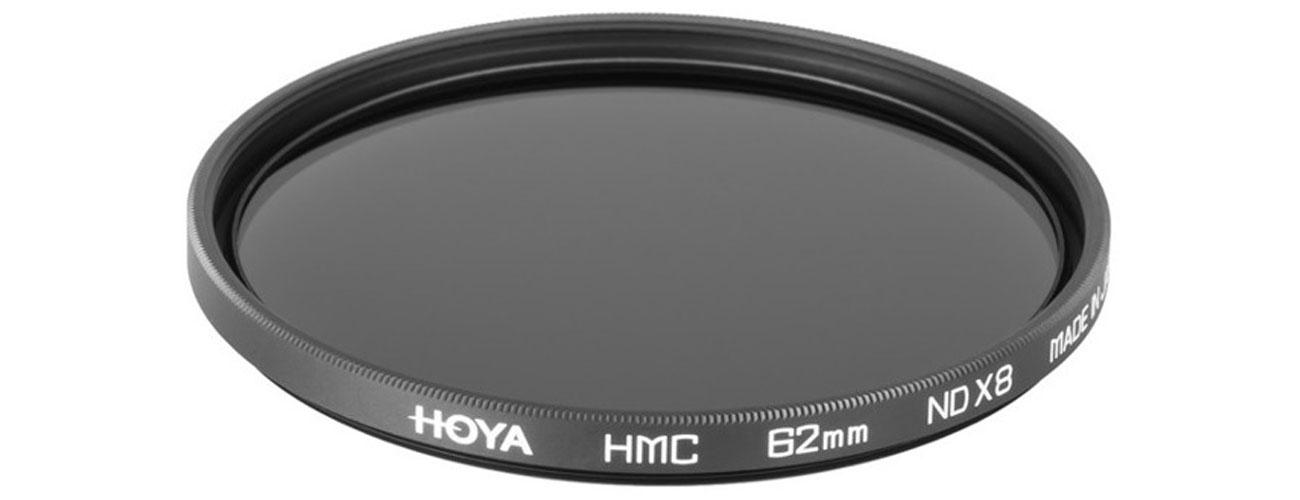 Hoya NDx8 62 mm HMC Wykorzystaj mniejsze prędkości migawki