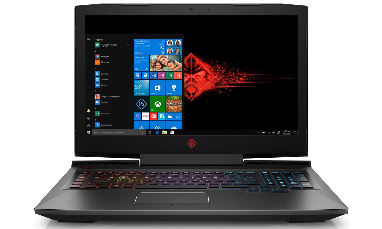 HP Omen 17 Ekran IPS 120Hz