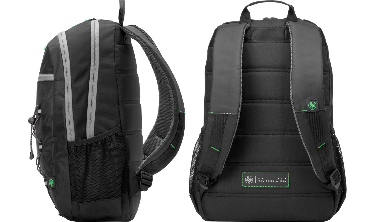 HP Active Backpack 1LU22AA Widok z boku i z tyłu