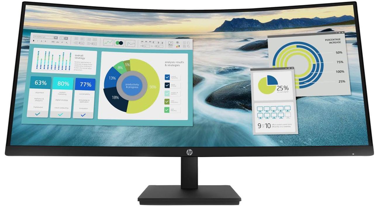 Wsparcie biznesu z monitorem HP P34hc G4 Curved