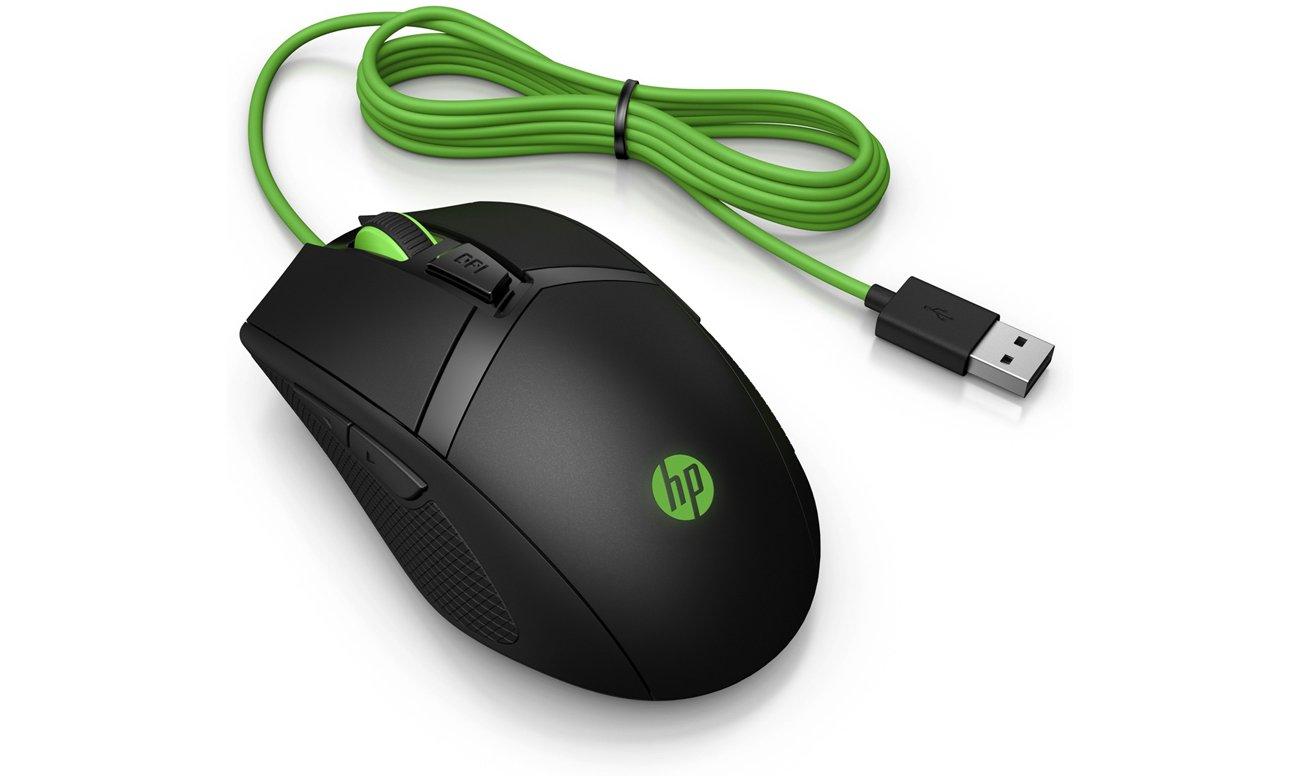 Optischer Sensor mit 5.000 dpi in der Maus HP Pavilion 300 Gaming USB