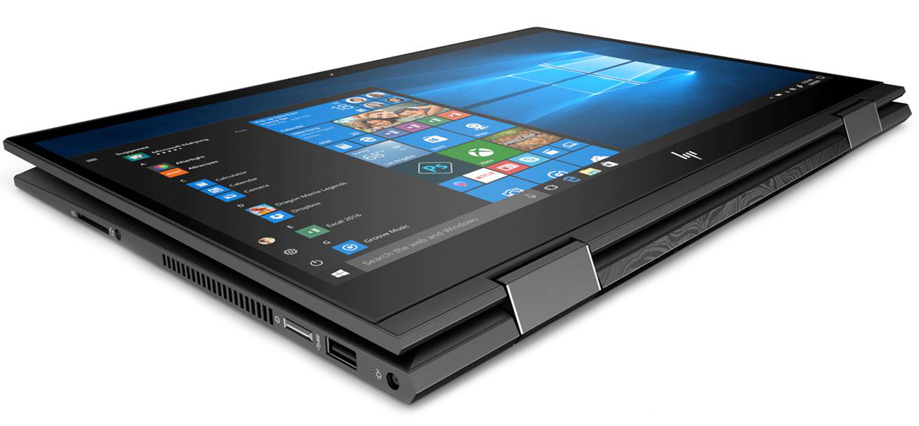 HP ENVY x360 ekran z mikrokrawędzia bezramkowa klawiatura