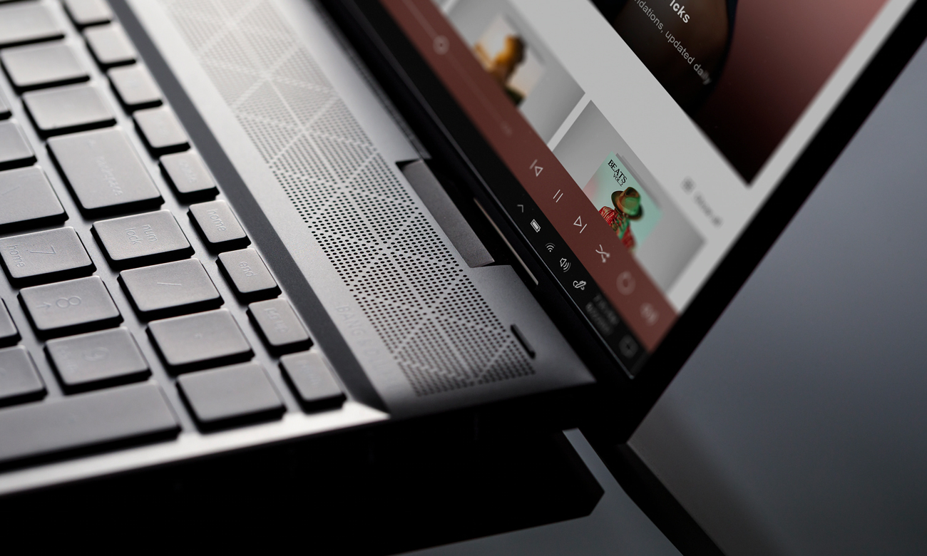 HP ENVY x360 bogaty dźwięk