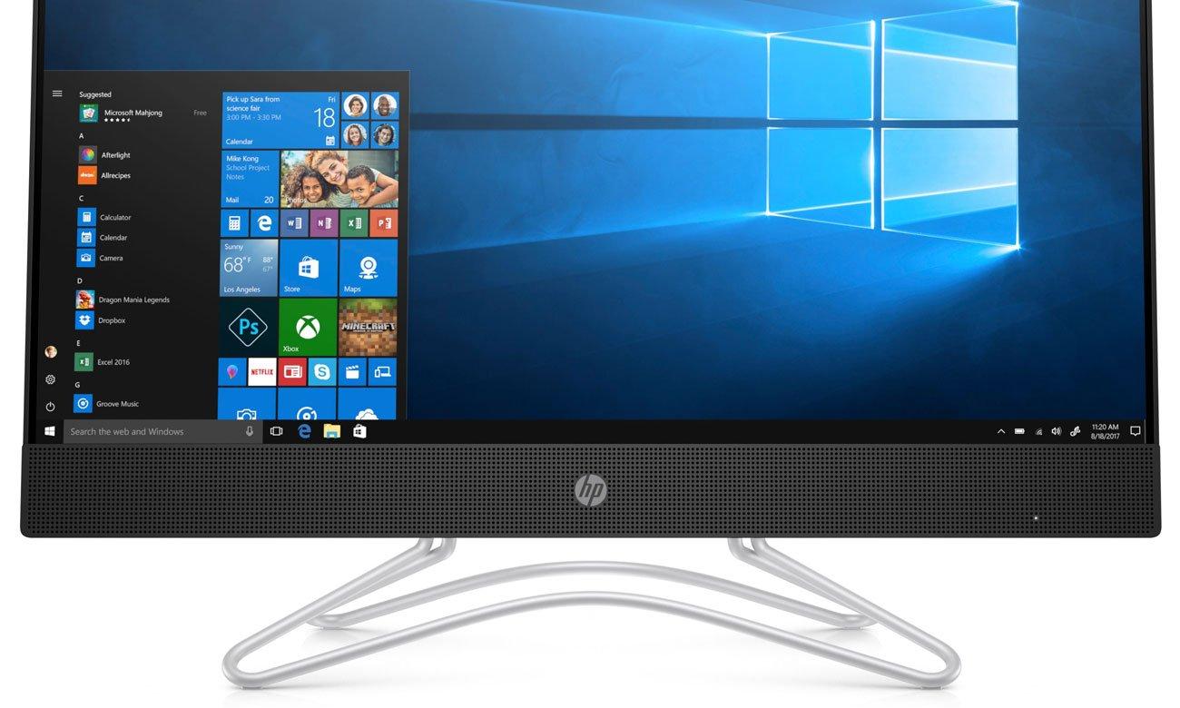 HP Pavilion AiO Wysokiej jakości głośniki z przodu ekranu