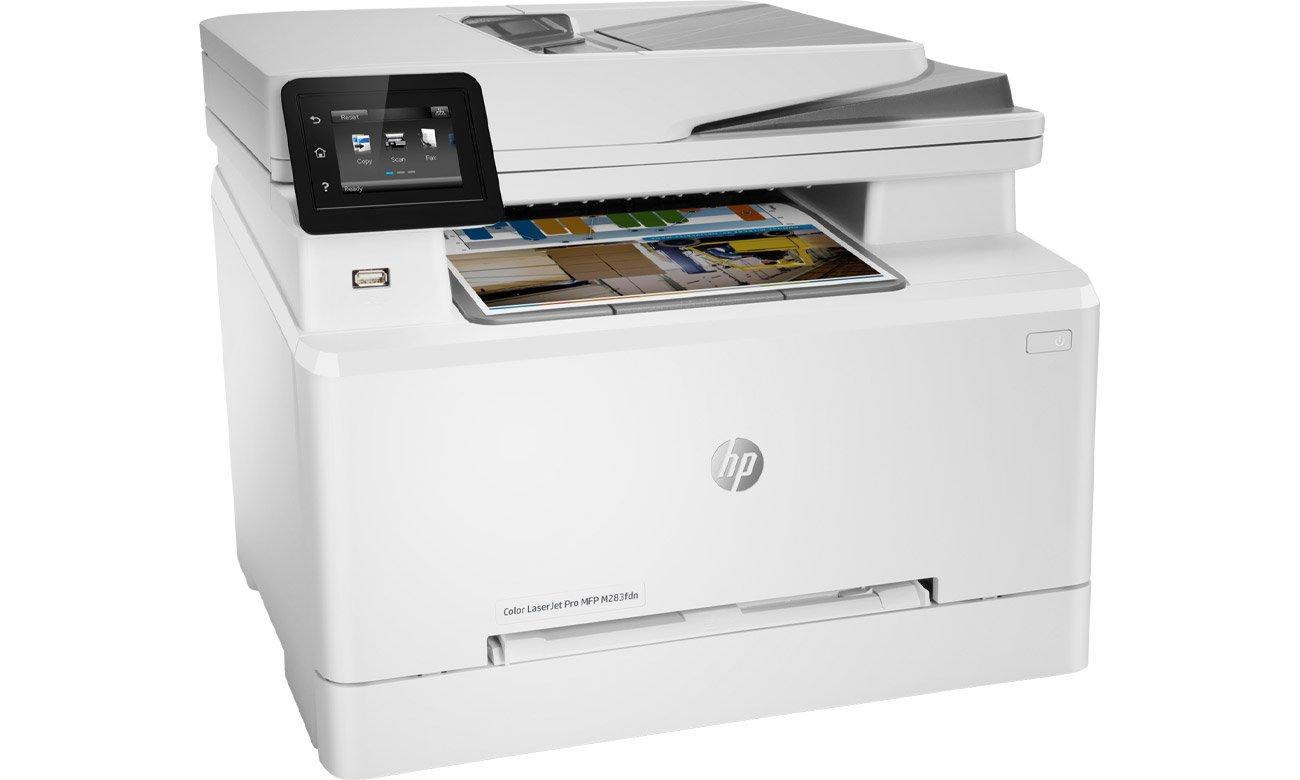 Urządzenie wielofunkcyjne do domu i biura HP Color LaserJet Pro MFP M283fdn