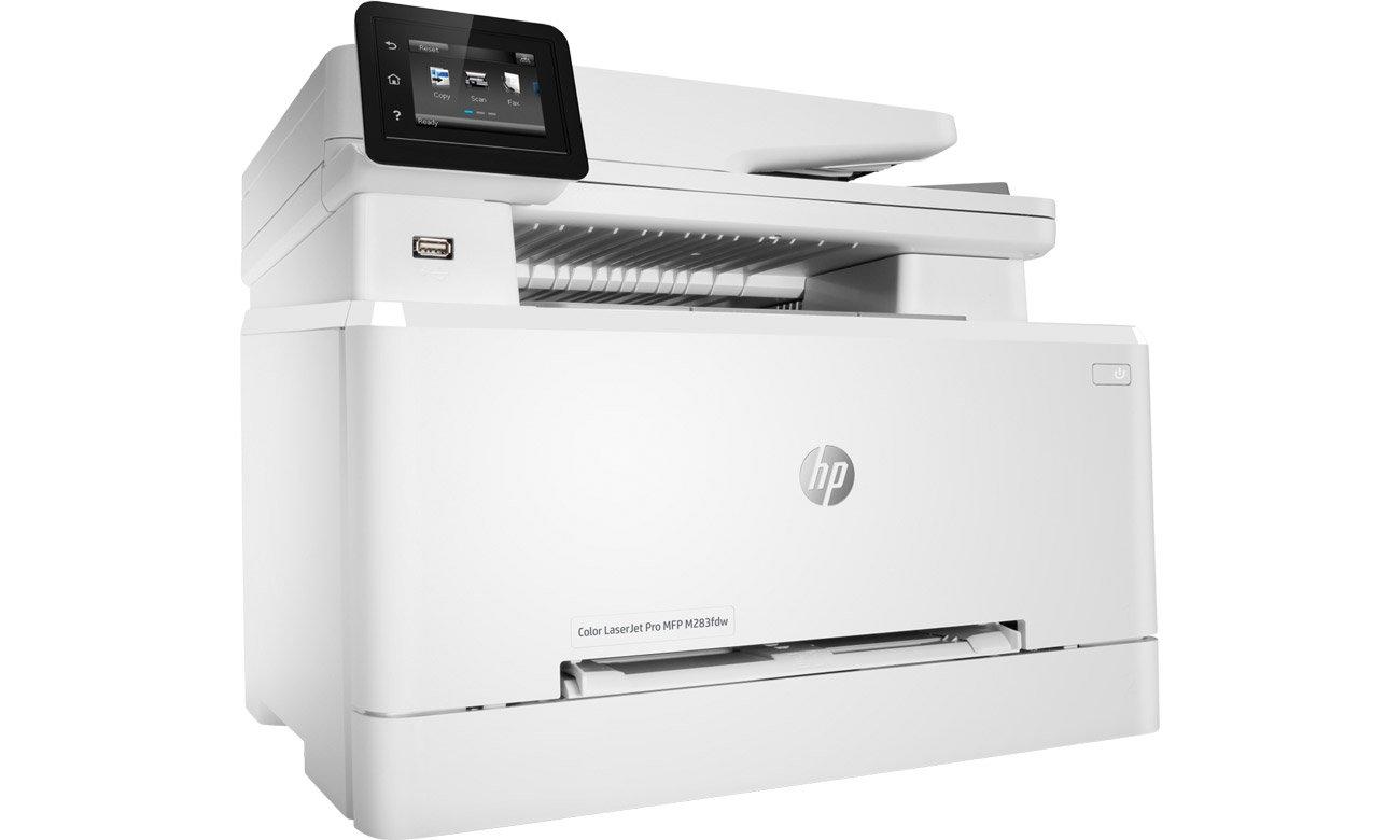 Urządzenie wielofunkcyjne do zastosowań domowych i firmowych HP Color LaserJet Pro MFP M283fdw