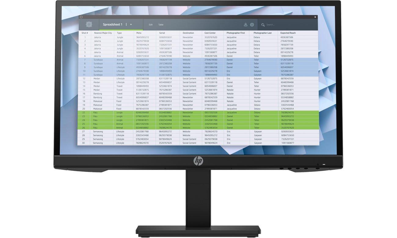 Biznesowy monitor HP P22h