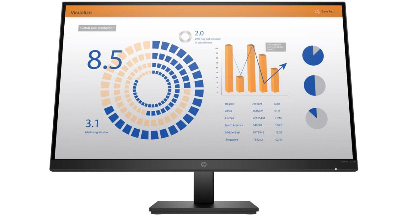 Monitor do domu i do biura HP P27q G4