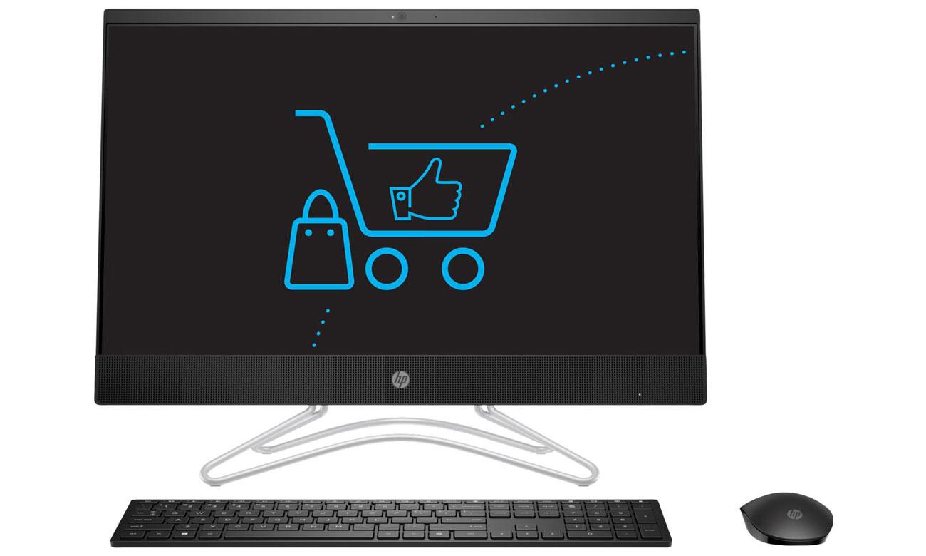 HP Pavilion AiO Ekran Full HD IPS z bardzo wąską ramką