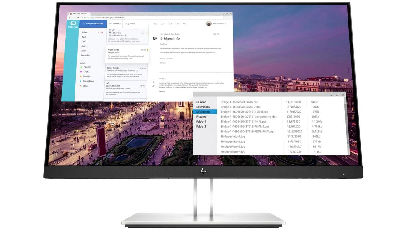 monitor do domu i biura HP E23 G4