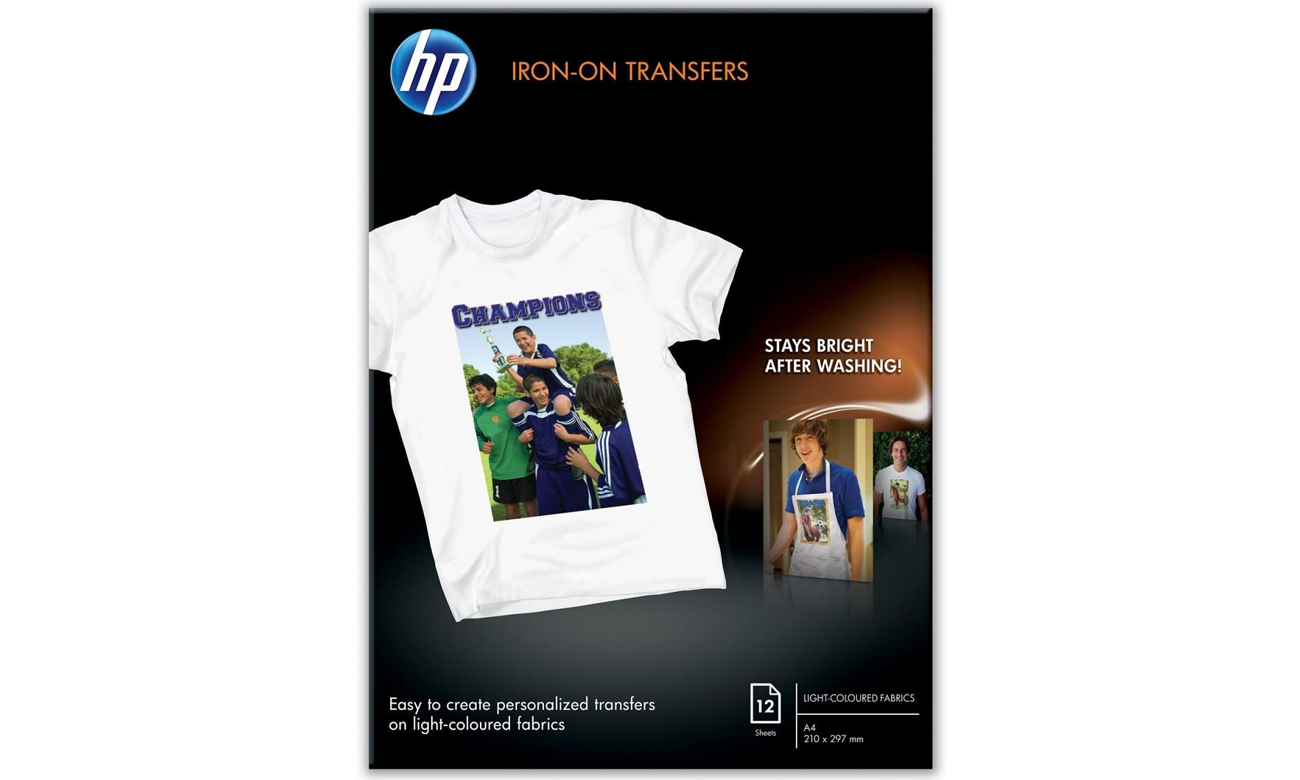HP Papier Iron-On T-Shirt Transfers A4 12 arkuszy