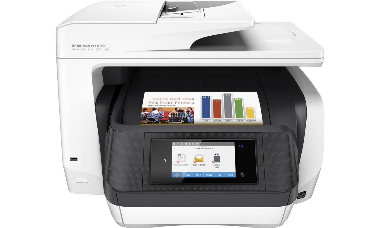 HP OfficeJet Pro 8720 widok z przodu