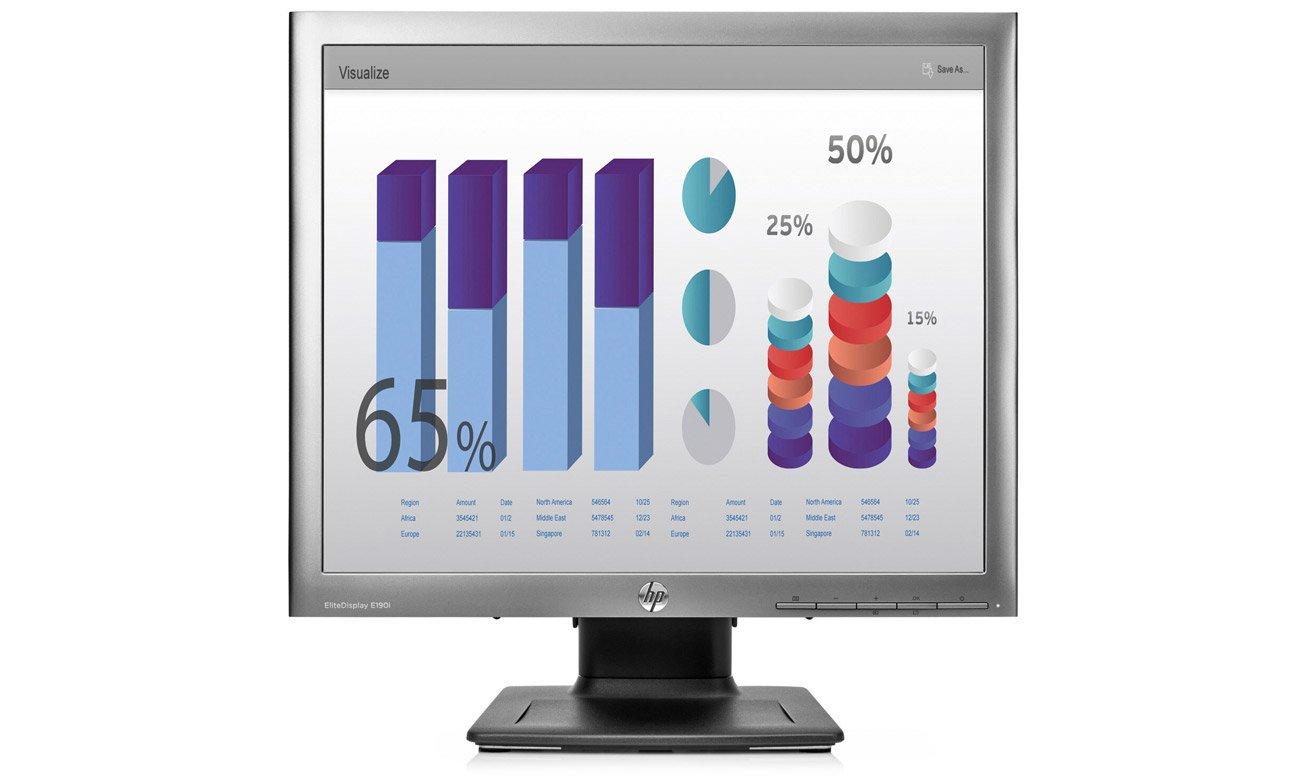 Monitor do zastosowań biznesowych HP EliteDisplay E190i