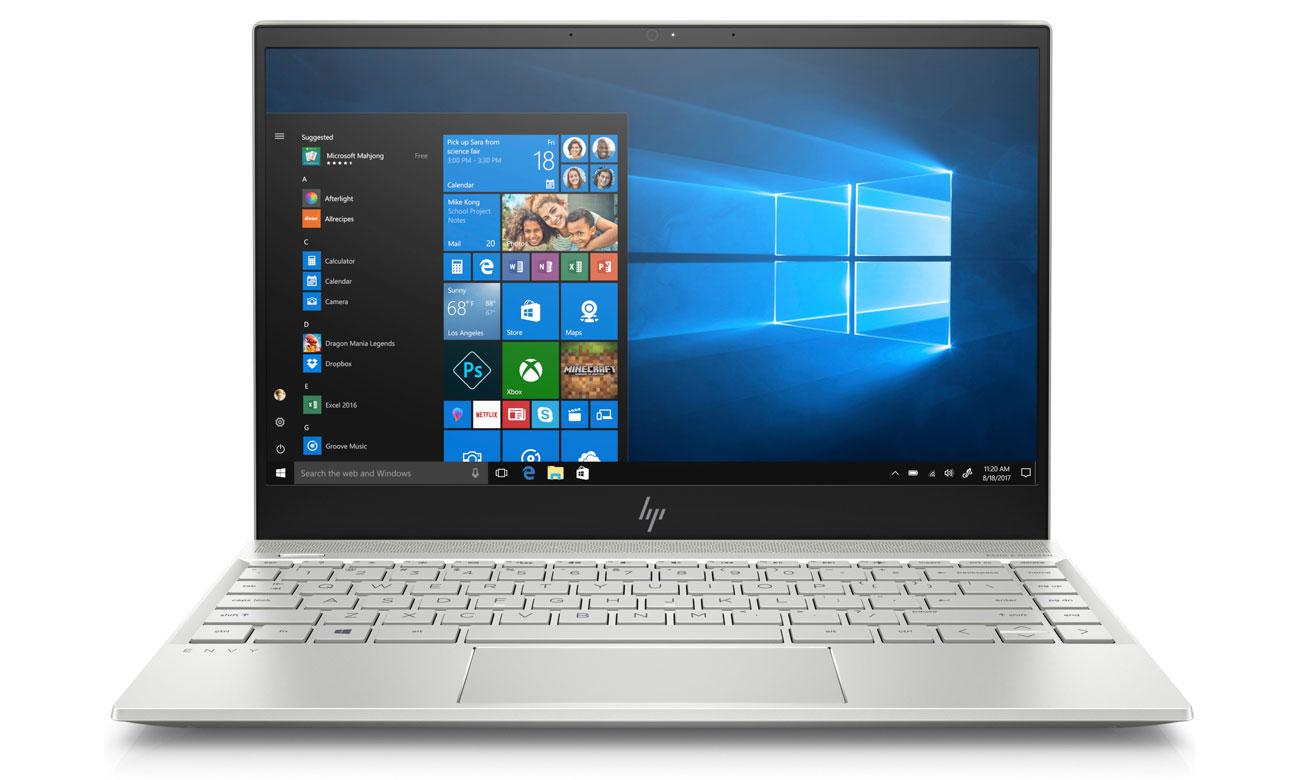 HP Envy 13 Lekko uniesiona i podświetlana klawiatura