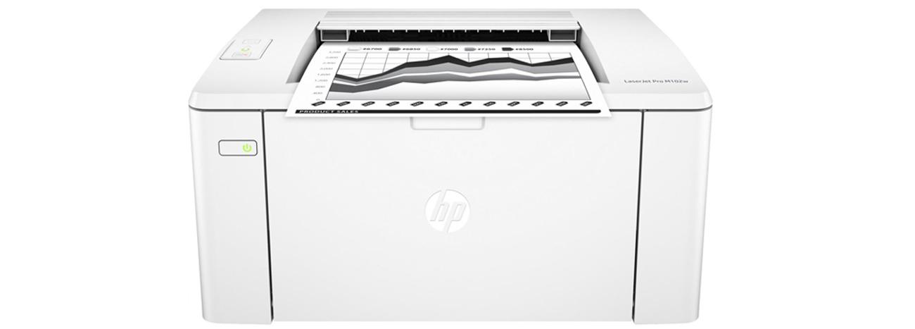 HP LaserJet Pro M102w widok z przodu