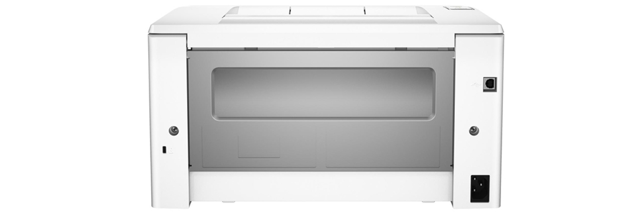 HP LaserJet Pro M102w widok z tyłu