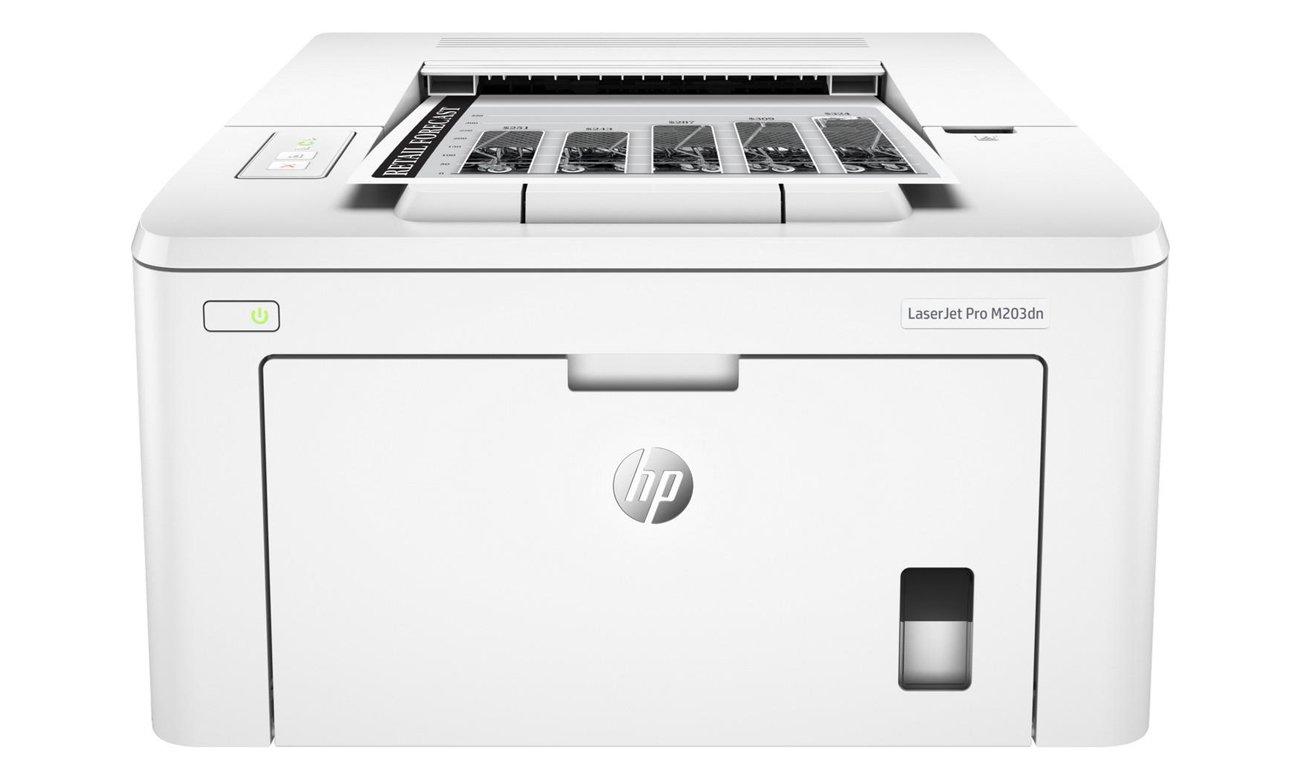 HP LaserJet Pro M203dn widok z przodu