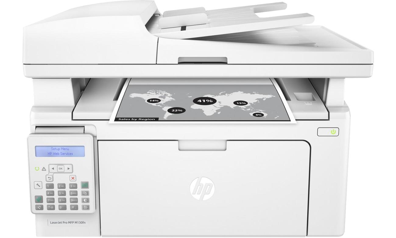 HP LaserJet Pro M130fn widok z przodu